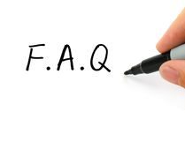 faq obraz stock