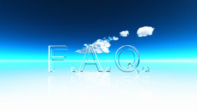 FAQ. An illustration of the letters FAQ and thinking clouds vector illustration