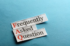 FAQ  abbreviation Royalty Free Stock Photo