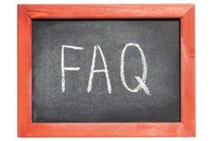 faq abbreviation Royalty Free Stock Photo
