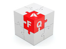 FAQ. Abstract cube. Royalty Free Stock Photography