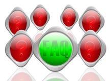 FAQ&question Markierungen Lizenzfreie Stockfotos