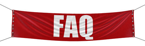 FAQ Banner (clipping path included) Royalty Free Stock Image