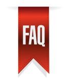 Faq banner sign illustration design Stock Images