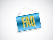 Faq banner sign illustration design Stock Photo