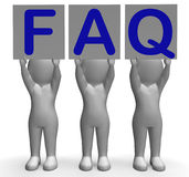 FAQ Banners Shows Frequent Assistance And Stock Image