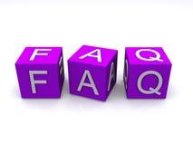 FAQ-Blöcke lizenzfreie abbildung