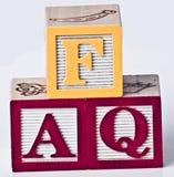 FAQ-Blokken Royalty-vrije Stock Afbeelding