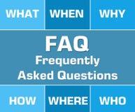 FAQ Blue Grid Stock Image