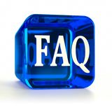 Faq Blue Icon Stock Photo