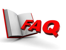 Faq book Royalty Free Stock Images