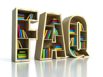 FAQ with books. Search answer concept vector illustration