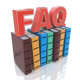 FAQ with books - search answer concept Stock Photography