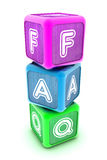 FAQ Building Blocks Stock Photo