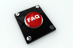 Faq button Stock Photography