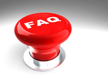 Faq button Stock Image
