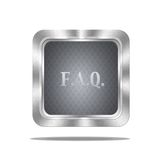 FAQ button. stock illustration
