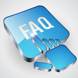 FAQ button Royalty Free Stock Images
