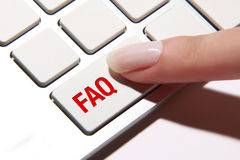 FAQ button Stock Image