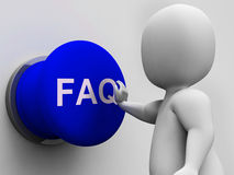 FAQ Button Shows Website Questions And Assistance Royalty Free Stock Photography