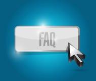 Faq button sign illustration design Stock Photos