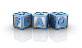 Faq Buzzword Royalty Free Stock Images