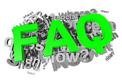 Faq, buzzword, infographic Stock Images