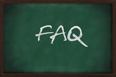 FAQ on chalkboard stock photography