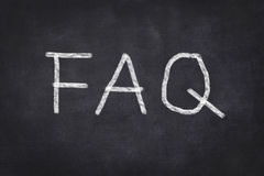 FAQ on chalkboard Stock Image