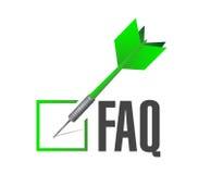 Faq check dart sign illustration design Stock Photo