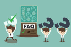 FAQ cocnept -  machine answering frequently asked questions Stock Photo