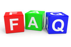 FAQ colorful cubes. Royalty Free Stock Images