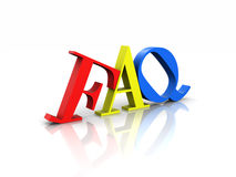 FAQ Colorful Frequently Asked Questions Stock Image