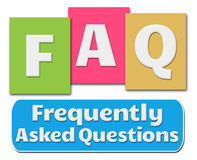 FAQ Colorful Stripes Royalty Free Stock Photos