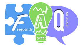 FAQ in Colourful Shapes Royalty Free Stock Photo