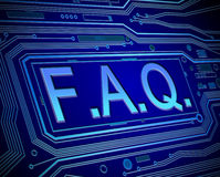 FAQ concept. Royalty Free Stock Photos