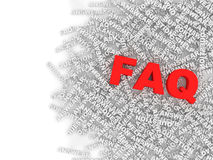 FAQ Concept Background Royalty Free Stock Photo