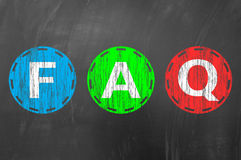 FAQ concept on blackboard Royalty Free Stock Images
