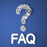 FAQ Concept. Stock Photography
