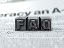 FAQ concept, Frequently Asked Questions stock images