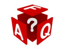 FAQ concept illustration. Isolated on white Royalty Free Stock Image
