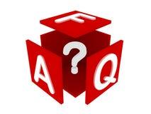 FAQ conceptenillustratie stock illustratie