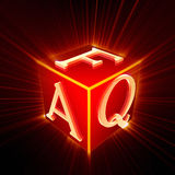 FAQ cube with shine Royalty Free Stock Image