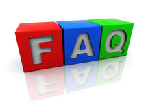 Faq cubes royalty free stock images