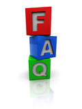 Faq cubes Royalty Free Stock Photography