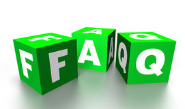 Faq cubes Stock Photo
