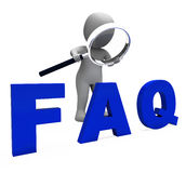 Faq 3d Character Shows Assistance Inquiries Or Frequently Asked Royalty Free Stock Photos