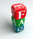 Faq 3d colorful buzzword. On white background Stock Images