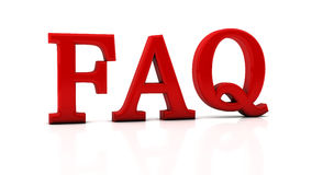 Faq 3d. Red faq word in 3d stock illustration