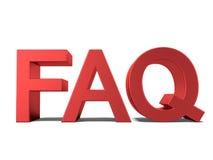 FAQ 3d tekst Zdjęcia Stock